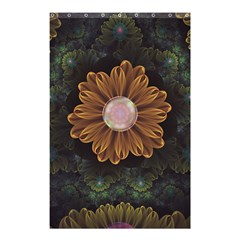 Abloom In Autumn Leaves With Faded Fractal Flowers Shower Curtain 48  X 72  (small)  by beautifulfractals