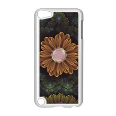 Abloom In Autumn Leaves With Faded Fractal Flowers Apple Ipod Touch 5 Case (white) by jayaprime