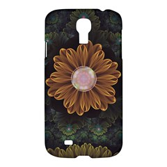 Abloom In Autumn Leaves With Faded Fractal Flowers Samsung Galaxy S4 I9500/i9505 Hardshell Case by jayaprime