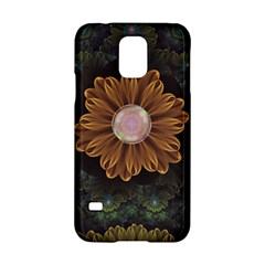 Abloom In Autumn Leaves With Faded Fractal Flowers Samsung Galaxy S5 Hardshell Case  by beautifulfractals
