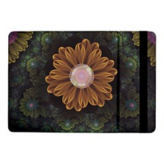 Abloom In Autumn Leaves With Faded Fractal Flowers Samsung Galaxy Tab Pro 10 1  Flip Case by jayaprime