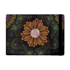 Abloom In Autumn Leaves With Faded Fractal Flowers Ipad Mini 2 Flip Cases by jayaprime