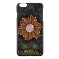 Abloom In Autumn Leaves With Faded Fractal Flowers Apple Iphone 6 Plus/6s Plus Black Enamel Case by beautifulfractals