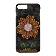 Abloom In Autumn Leaves With Faded Fractal Flowers Apple Iphone 8 Plus Hardshell Case by beautifulfractals
