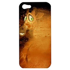 The Funny, Speed Giraffe Apple Iphone 5 Hardshell Case by FantasyWorld7
