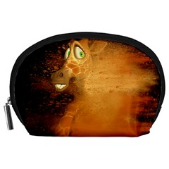 The Funny, Speed Giraffe Accessory Pouches (large)  by FantasyWorld7