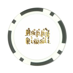 Happy Diwali Gold Golden Stars Star Festival Of Lights Deepavali Typography Poker Chip Card Guard by yoursparklingshop