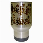 Happy Diwali Gold Golden Stars Star Festival Of Lights Deepavali Typography Travel Mug (Silver Gray) Center