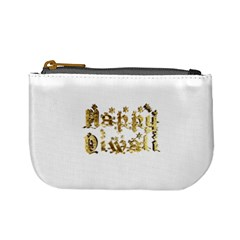 Happy Diwali Gold Golden Stars Star Festival Of Lights Deepavali Typography Mini Coin Purses by yoursparklingshop