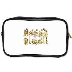 Happy Diwali Gold Golden Stars Star Festival Of Lights Deepavali Typography Toiletries Bags 2 Side by yoursparklingshop
