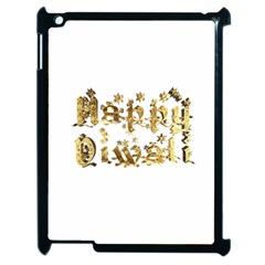 Happy Diwali Gold Golden Stars Star Festival Of Lights Deepavali Typography Apple Ipad 2 Case (black) by yoursparklingshop
