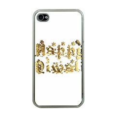 Happy Diwali Gold Golden Stars Star Festival Of Lights Deepavali Typography Apple Iphone 4 Case (clear) by yoursparklingshop