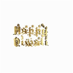 Happy Diwali Gold Golden Stars Star Festival Of Lights Deepavali Typography Small Garden Flag (two Sides) by yoursparklingshop