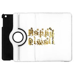 Happy Diwali Gold Golden Stars Star Festival Of Lights Deepavali Typography Apple Ipad Mini Flip 360 Case by yoursparklingshop