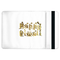 Happy Diwali Gold Golden Stars Star Festival Of Lights Deepavali Typography Ipad Air Flip by yoursparklingshop