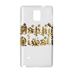 Happy Diwali Gold Golden Stars Star Festival Of Lights Deepavali Typography Samsung Galaxy Note 4 Hardshell Case by yoursparklingshop