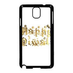 Happy Diwali Gold Golden Stars Star Festival Of Lights Deepavali Typography Samsung Galaxy Note 3 Neo Hardshell Case (black) by yoursparklingshop