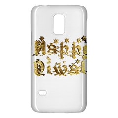 Happy Diwali Gold Golden Stars Star Festival Of Lights Deepavali Typography Galaxy S5 Mini by yoursparklingshop