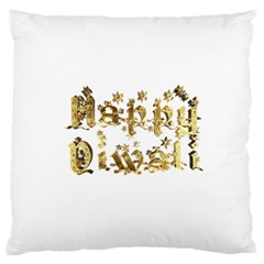Happy Diwali Gold Golden Stars Star Festival Of Lights Deepavali Typography Standard Flano Cushion Case (one Side) by yoursparklingshop