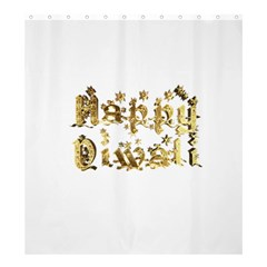Happy Diwali Gold Golden Stars Star Festival Of Lights Deepavali Typography Shower Curtain 66  X 72  (large)  by yoursparklingshop