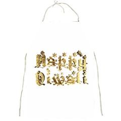 Happy Diwali Gold Golden Stars Star Festival Of Lights Deepavali Typography Full Print Aprons by yoursparklingshop