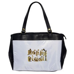 Happy Diwali Gold Golden Stars Star Festival Of Lights Deepavali Typography Office Handbags by yoursparklingshop