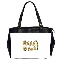 Happy Diwali Gold Golden Stars Star Festival Of Lights Deepavali Typography Office Handbags (2 Sides)  by yoursparklingshop