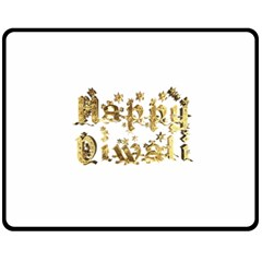 Happy Diwali Gold Golden Stars Star Festival Of Lights Deepavali Typography Fleece Blanket (medium)  by yoursparklingshop