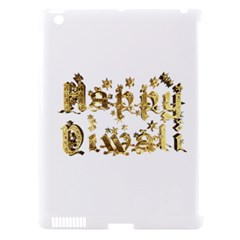 Happy Diwali Gold Golden Stars Star Festival Of Lights Deepavali Typography Apple Ipad 3/4 Hardshell Case (compatible With Smart Cover) by yoursparklingshop