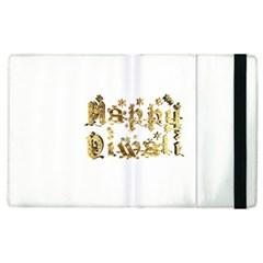 Happy Diwali Gold Golden Stars Star Festival Of Lights Deepavali Typography Apple Ipad 3/4 Flip Case by yoursparklingshop