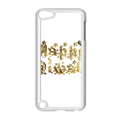 Happy Diwali Gold Golden Stars Star Festival Of Lights Deepavali Typography Apple Ipod Touch 5 Case (white) by yoursparklingshop
