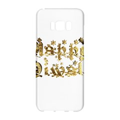Happy Diwali Gold Golden Stars Star Festival Of Lights Deepavali Typography Samsung Galaxy S8 Hardshell Case  by yoursparklingshop