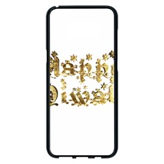 Happy Diwali Gold Golden Stars Star Festival Of Lights Deepavali Typography Samsung Galaxy S8 Plus Black Seamless Case by yoursparklingshop