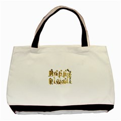 Happy Diwali Gold Golden Stars Star Festival Of Lights Deepavali Typography Basic Tote Bag (two Sides) by yoursparklingshop