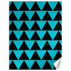 Triangle2 Black Marble & Turquoise Colored Pencil Canvas 12  X 16   by trendistuff