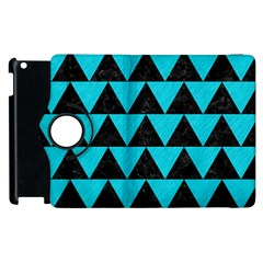 Triangle2 Black Marble & Turquoise Colored Pencil Apple Ipad 2 Flip 360 Case by trendistuff