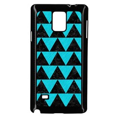 Triangle2 Black Marble & Turquoise Colored Pencil Samsung Galaxy Note 4 Case (black) by trendistuff
