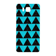 Triangle2 Black Marble & Turquoise Colored Pencil Samsung Galaxy Alpha Hardshell Back Case by trendistuff