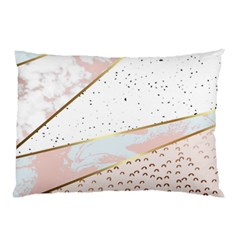 Collage,white Marble,gold,silver,black,white,hand Drawn, Modern,trendy,contemporary,pattern Pillow Case by 8fugoso