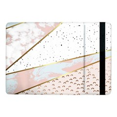 Collage,white Marble,gold,silver,black,white,hand Drawn, Modern,trendy,contemporary,pattern Samsung Galaxy Tab Pro 10 1  Flip Case by 8fugoso