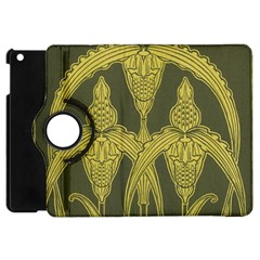 Art Nouveau Green Apple Ipad Mini Flip 360 Case by 8fugoso