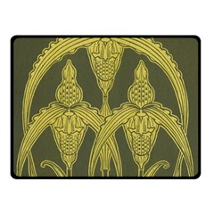 Art Nouveau Green Double Sided Fleece Blanket (small)  by 8fugoso