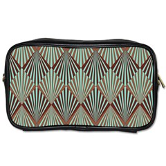 Art Deco Teal Brown Toiletries Bags by 8fugoso