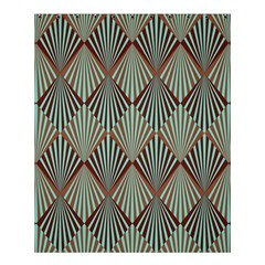 Art Deco Teal Brown Shower Curtain 60  X 72  (medium)  by 8fugoso