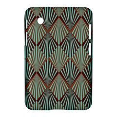 Art Deco Teal Brown Samsung Galaxy Tab 2 (7 ) P3100 Hardshell Case  by 8fugoso