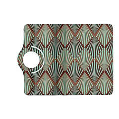 Art Deco Teal Brown Kindle Fire Hd (2013) Flip 360 Case by 8fugoso