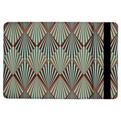 Art Deco Teal Brown Ipad Air Flip by 8fugoso