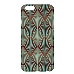 Art Deco Teal Brown Apple Iphone 6 Plus/6s Plus Hardshell Case by 8fugoso