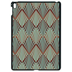 Art Deco Teal Brown Apple Ipad Pro 9 7   Black Seamless Case by 8fugoso