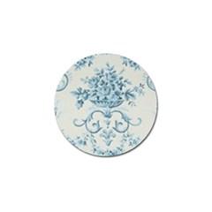 Blue Vintage Floral  Golf Ball Marker (4 Pack) by 8fugoso